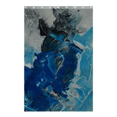 Blue Abstract Shower Curtain 48  x 72  (Small)