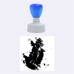 Blue Abstract Rubber Round Stamps (medium)