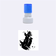 Blue Abstract Rubber Round Stamps (Small)