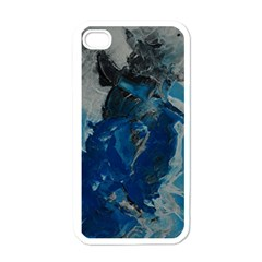 Blue Abstract Apple Iphone 4 Case (white)