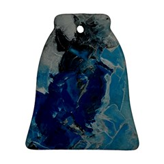 Blue Abstract Bell Ornament (2 Sides)