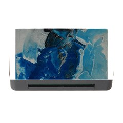 Blue Abstract Memory Card Reader With Cf