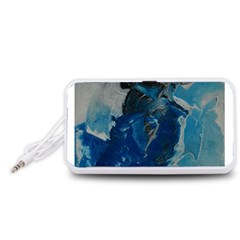 Blue Abstract Portable Speaker (White)