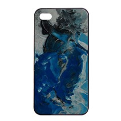 Blue Abstract Apple iPhone 4/4s Seamless Case (Black)