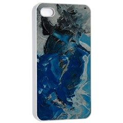 Blue Abstract Apple Iphone 4/4s Seamless Case (white)