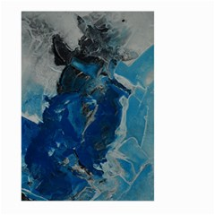 Blue Abstract Large Garden Flag (Two Sides)