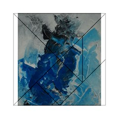Blue Abstract Acrylic Tangram Puzzle (6  x 6 )