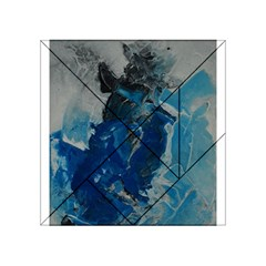 Blue Abstract Acrylic Tangram Puzzle (4  x 4 )