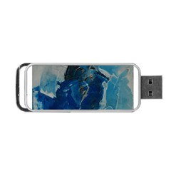 Blue Abstract Portable Usb Flash (one Side)