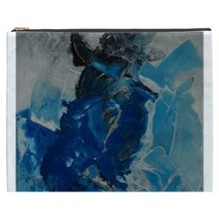Blue Abstract Cosmetic Bag (xxxl)