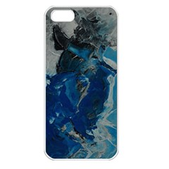 Blue Abstract Apple Iphone 5 Seamless Case (white)