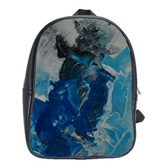 Blue Abstract School Bags (xl)