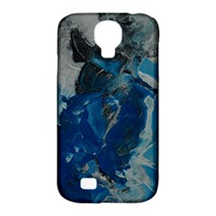 Blue Abstract Samsung Galaxy S4 Classic Hardshell Case (pc+silicone)