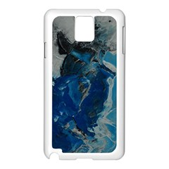 Blue Abstract Samsung Galaxy Note 3 N9005 Case (white)