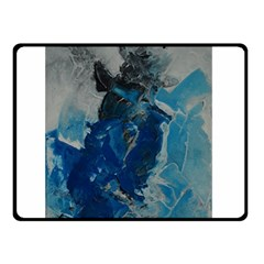 Blue Abstract Double Sided Fleece Blanket (Small)
