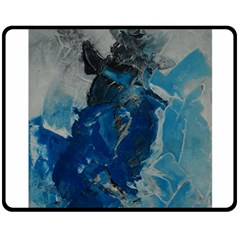 Blue Abstract Double Sided Fleece Blanket (medium)