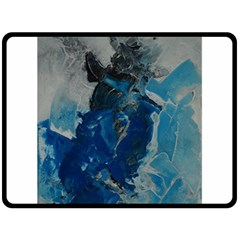 Blue Abstract Double Sided Fleece Blanket (Large)