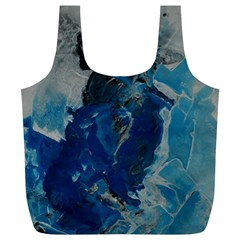 Blue Abstract Full Print Recycle Bags (l)