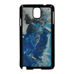 Blue Abstract Samsung Galaxy Note 3 Neo Hardshell Case (Black)