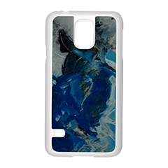 Blue Abstract Samsung Galaxy S5 Case (white)