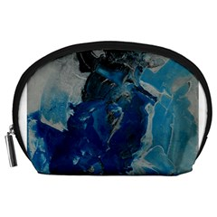 Blue Abstract Accessory Pouches (large)