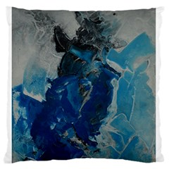Blue Abstract Large Flano Cushion Cases (One Side)