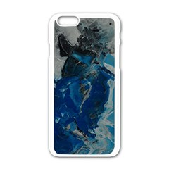 Blue Abstract Apple iPhone 6 White Enamel Case