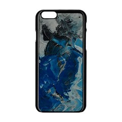 Blue Abstract Apple iPhone 6 Black Enamel Case
