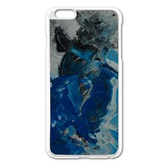 Blue Abstract Apple Iphone 6 Plus Enamel White Case
