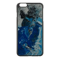 Blue Abstract Apple iPhone 6 Plus Black Enamel Case