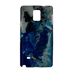 Blue Abstract Samsung Galaxy Note 4 Hardshell Case