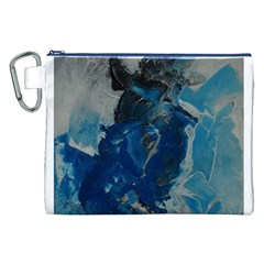 Blue Abstract Canvas Cosmetic Bag (XXL)