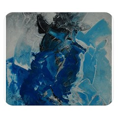 Blue Abstract Double Sided Flano Blanket (Small)