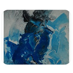Blue Abstract Double Sided Flano Blanket (Medium)