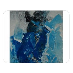 Blue Abstract Double Sided Flano Blanket (Large)