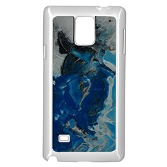 Blue Abstract Samsung Galaxy Note 4 Case (White)