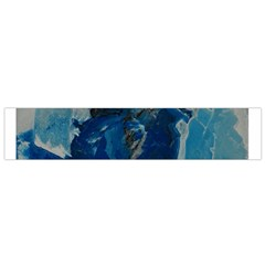 Blue Abstract Flano Scarf (Small)