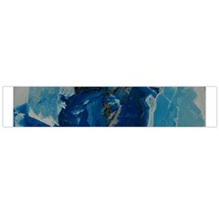 Blue Abstract Flano Scarf (Large)