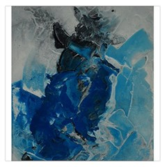 Blue Abstract Large Satin Scarf (Square)