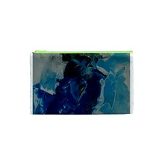 Blue Abstract Cosmetic Bag (XS)