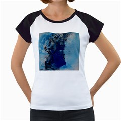 Blue Abstract No.2 Women s Cap Sleeve T