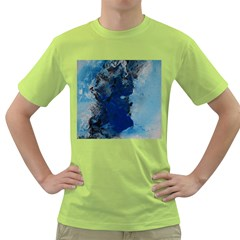 Blue Abstract No.2 Green T-Shirt