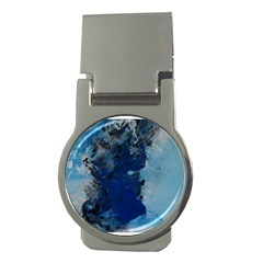 Blue Abstract No 2 Money Clips (round)