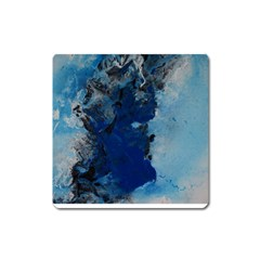 Blue Abstract No 2 Square Magnet