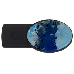 Blue Abstract No 2 Usb Flash Drive Oval (2 Gb)