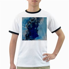 Blue Abstract No 2 Ringer T Shirts