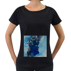 Blue Abstract No 2 Women s Loose Fit T Shirt (black)