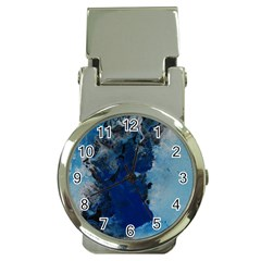 Blue Abstract No 2 Money Clip Watches