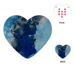 Blue Abstract No.2 Playing Cards (Heart)