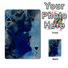 Blue Abstract No 2 Playing Cards 54 Designs